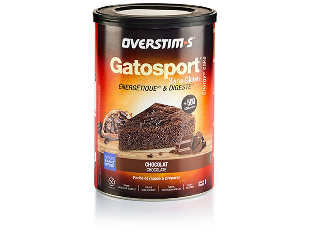 OVERSTIM.s Gatosport Gluten Free Préparation gâteau 400g, Chocolate